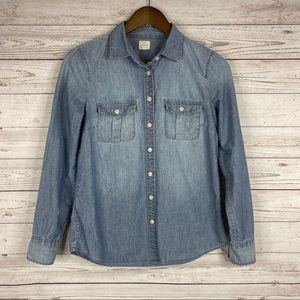 J. Crew Classic Chambray Shirt in Perfect Fit